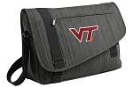 Virginia Tech Messenger Laptop Bag Stylish Charcoal
