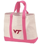 Virginia Tech Hokies Tote Bags Pink