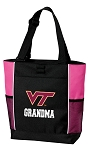 Virginia Tech Grandma Tote Bag Pink