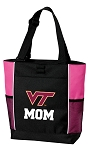 Virginia Tech Mom Tote Bag Pink