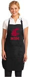 Official Washington State University Mom Apron Black