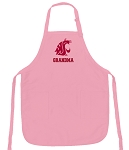 Deluxe Washington State University Grandma Apron Pink - MADE in the USA!
