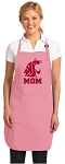 Deluxe Washington State University Mom Apron Pink - MADE in the USA!