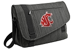 Washington State Messenger Laptop Bag Stylish Charcoal
