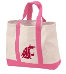 Washington State Tote Bags Pink