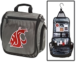 Washington State Toiletry Bag or Washington State University Shaving Kit Organizer for Him Gray