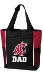 Washington State University Dad Tote Bag Red