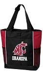 Washington State University Grandpa Tote Bag Red