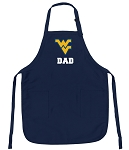 Official West Virginia University Dad Aprons Navy