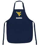 Official West Virginia University Grandma Aprons Navy