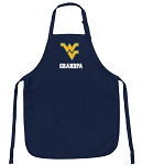 Official West Virginia University Grandpa Aprons Navy