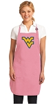 Deluxe West Virginia University Apron Pink - MADE in the USA!