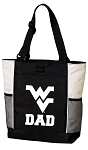 West Virginia University Dad Tote Bag White Accents