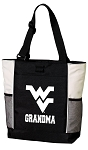 West Virginia University Grandma Tote Bag White Accents