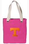 Tennessee Vols Tote Bag RICH COTTON CANVAS Pink