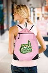 UNCC Drawstring Bag Mesh and Microfiber Pink