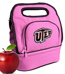 UTEP Miners Lunch Bag Pink