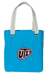 UTEP Miners Tote Bag RICH COTTON CANVAS Turquoise