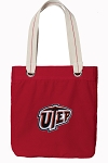 UTEP Miners Tote Bag RICH COTTON CANVAS Red