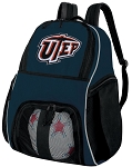 UTEP Soccer Ball Backpack or UTEP Miners Volleyball Practice Gear Bag Navy