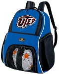 UTEP Soccer Backpack or UTEP Miners Volleyball Practice Bag Boys or Girls Blue