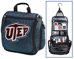 UTEP Miners Hanging Travel Toiletry Bag or UTEP Shaving Kit Organizer for Him Navy