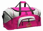 Ladies UVA Peace Frog Duffel Bag or Gym Bag for Women