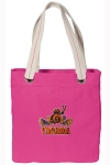 UVA Peace Frog Tote Bag RICH COTTON CANVAS Pink