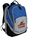 UVA Peace Frog Deluxe Laptop Backpack Blue
