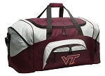 Large Virginia Tech Hokies Duffle Bag Maroon