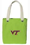 Virginia Tech Tote Bag RICH COTTON CANVAS Green