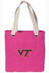 Virginia Tech Tote Bag RICH COTTON CANVAS Pink