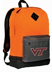 Virginia Tech Backpack HI VISIBILITY Orange Virginia Tech Hokies CLASSIC STYLE