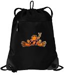 Virginia Tech Peace Frog Drawstring Backpack-MESH & MICROFIBER