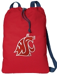 Washington State Cotton Drawstring Bag Backpacks Cool RED