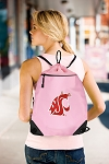Washington State Drawstring Bag Mesh and Microfiber Pink