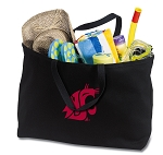 Washington State Jumbo Tote Bag Black