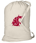 Washington State Laundry Bag Natural