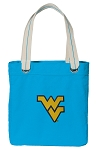 West Virginia Tote Bag RICH COTTON CANVAS Turquoise