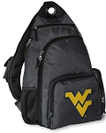 WVU Backpack Cross Body Style Gray