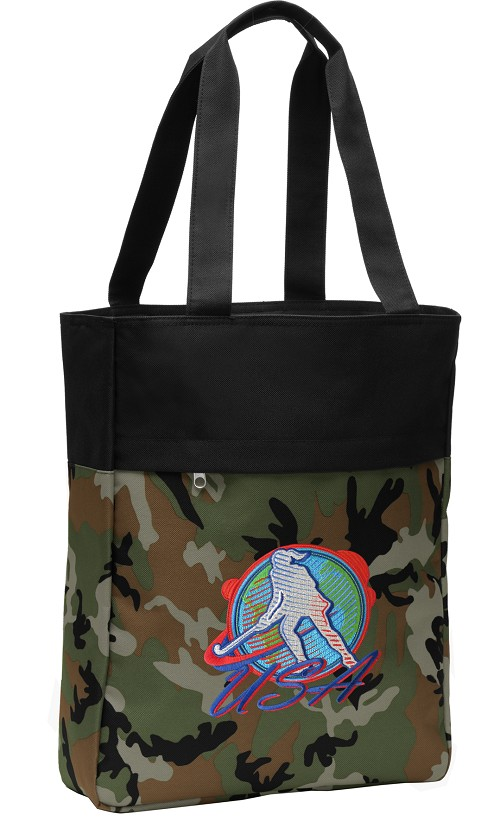Field Hockey Tote Bag Everyday Carryall Camo