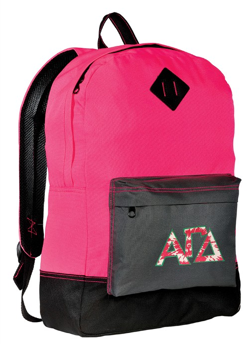 Alpha Gamma Delta AGD Neon PINK Backpack