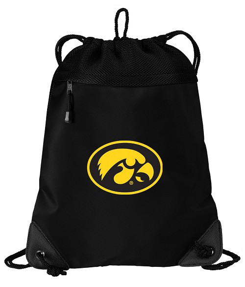 University of Iowa Hawkeyes Drawstring Bag Backpack