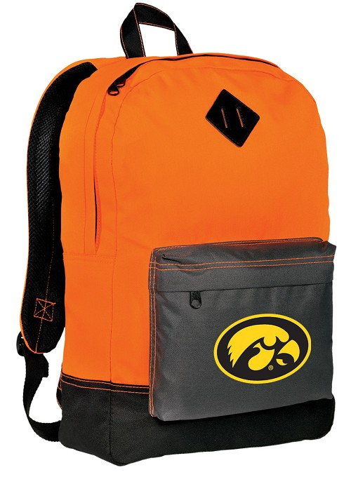 University of Iowa Hawkeyes Neon Orange Backpack